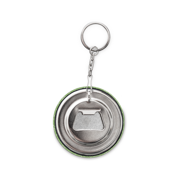 Keychain and Bottle Opener, Green Moro