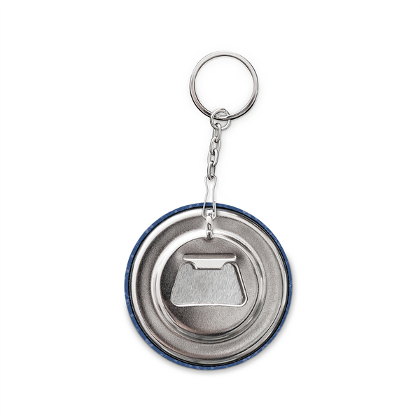 Keychain and Bottle Opener, Dark Blue Moro