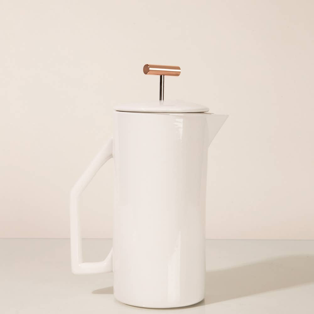 French Press: Cream Ceramic