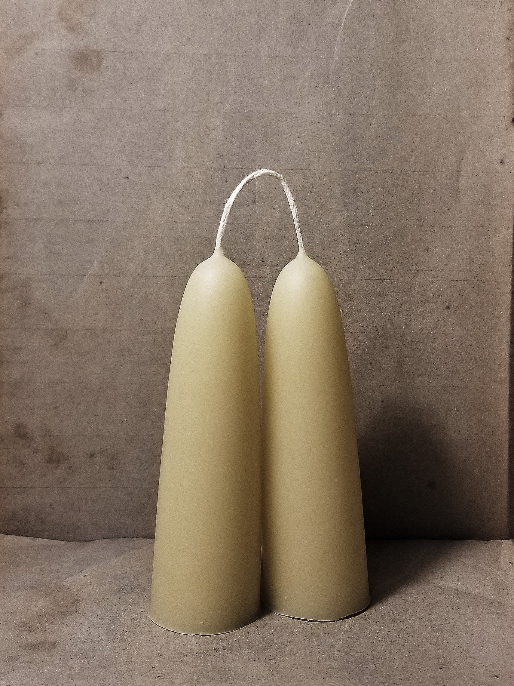 Beeswax Candles: Stubby