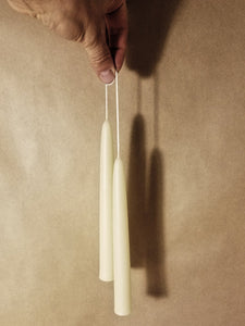 Beeswax Candles: Taper