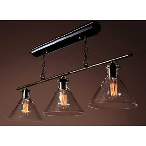 Lola 3-light Black Island Edison Chandelier with Bulbs