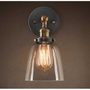 Barbara 1-light Clear Glass Edison Wall Lamp with Light Bulb