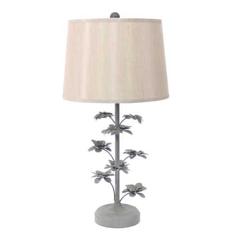 "29"" x 28"" x 8"" Gray Rustic Flowering Tree Table Lamp"