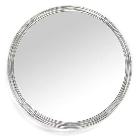 "29.25"" X 2.5"" X 29.25"" Silver Statement Wall Mirror"