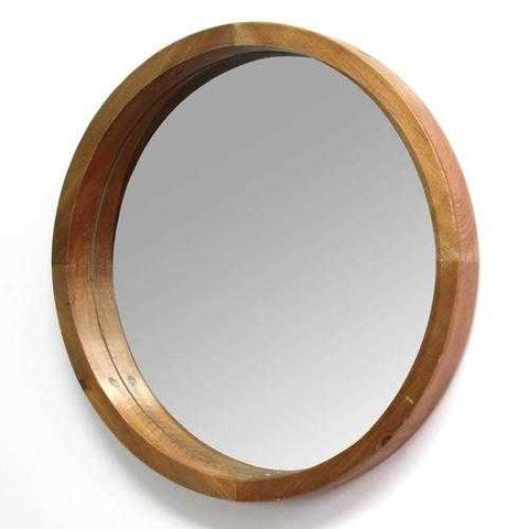 "20"" X 2.25"" X 20"" Natural Wood Grain Mirror"