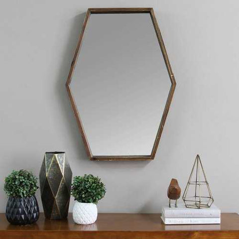 "Image of 20.47"" X 1.97"" X 27.5"" Handcrafted Wood Mirror With Decorative Frame"