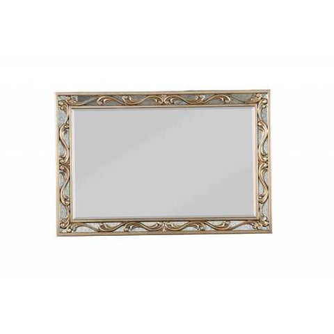 "2"" X 48"" X 32"" Antique Gold Wood Mirror"
