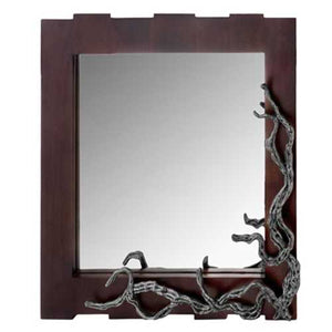 "3"" x 33"" x 32"" Brown & Silver, Vine - Wall Mirror"