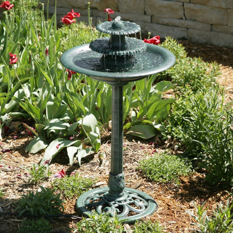 Image of 3-Tier Outdoor Bird Bath Water Fountain