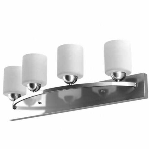 Image of 4-Light Modern Wall Sconce Lamp Fixture