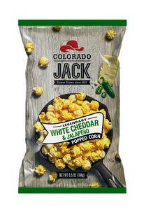 White Cheddar & Jalapeno:  A blend of cheeses and the slight heat of jalapeno make this a zesty snack.