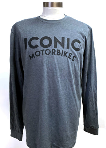 """Vintage Curved Logo"" Long Sleeve Shirt - Men's"