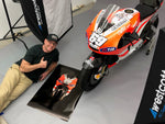 Nicky Hayden D16 GP11 Show Bike - Special Edition Art Print - V2