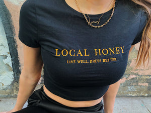 Local Honey Embroidered Crop