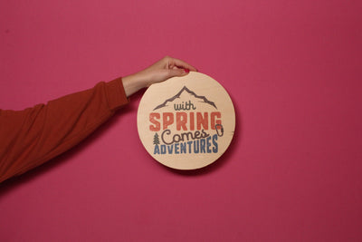 Wood Outdoor Badges -  With Spring Comes Adventures