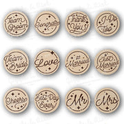 Lasercut Hand Lettering Wedding  - Bundle - Wood
