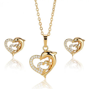 Heart Beat Design Necklace Set