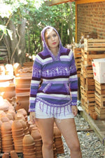 Load image into Gallery viewer, Rainbow sweater / Alpaca wool cotton blend