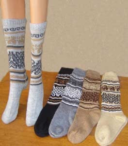 Alpaca wool socks