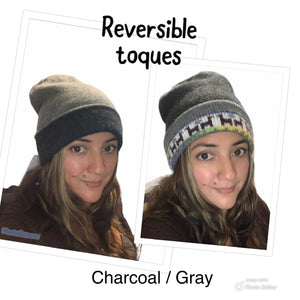 Alpaca prints REVERSIBLE Toque