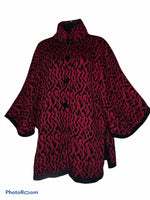 Load image into Gallery viewer, button cape/ sweater  Alpaca wool/ cotton blend