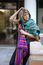 Load image into Gallery viewer, Coco Shawl- Scarf / Alpaca wool - Cotton blend