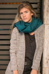 Coco Shawl- Scarf / Alpaca wool - Cotton blend
