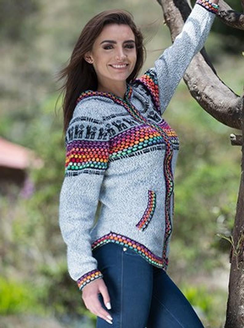 Panza Shakira ladies sweater/ Alpaca wool