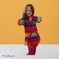 Rainbow sweater - Children-Alpaca wool