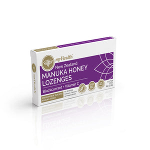 Manuka Honey Lozenges, Blackcurrant + Vitamin C