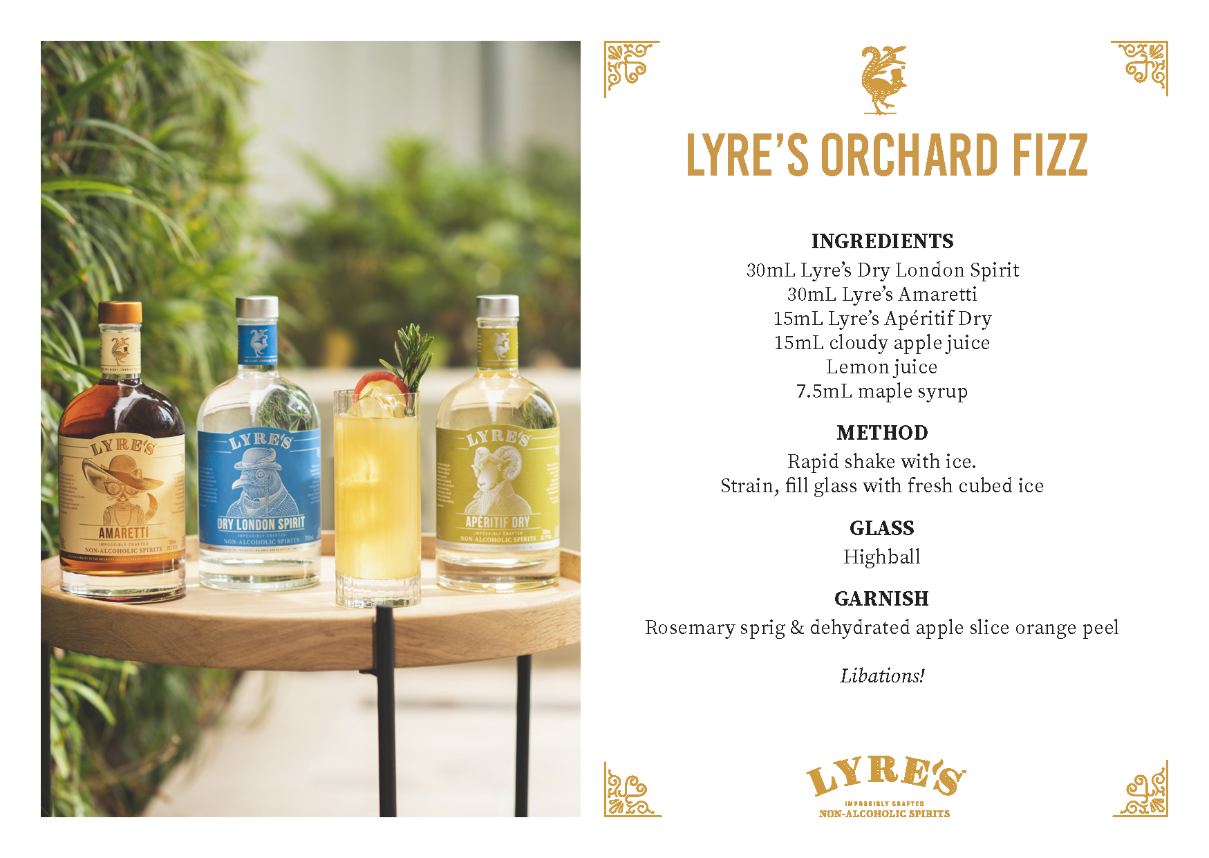 sipfree-lyres-non alcoholic-cocktail-recipe-orchard fizz