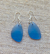 Load image into Gallery viewer, Dangle Earrings Recycled Glass (Various Colors)