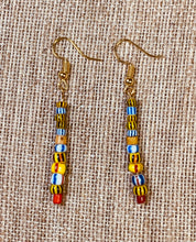 Load image into Gallery viewer, Drop Earrings (Multi-Color Bright)