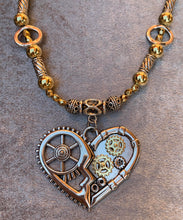 Load image into Gallery viewer, Steam Punk Heart Necklace