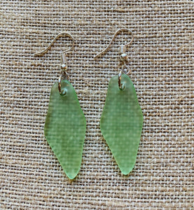 Dangle Earrings Recycled Glass (Various Colors)