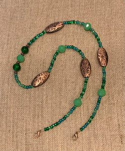 Mask Lanyard (Green & Copper)
