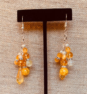 Cluster Earrings (Yellow & Amber)