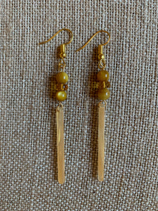 Dangle Earrings (Gold & Yellow)