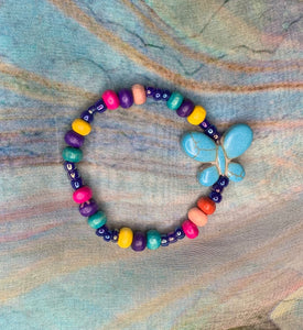 Child's Multi-Colored Butterfly Bracelet