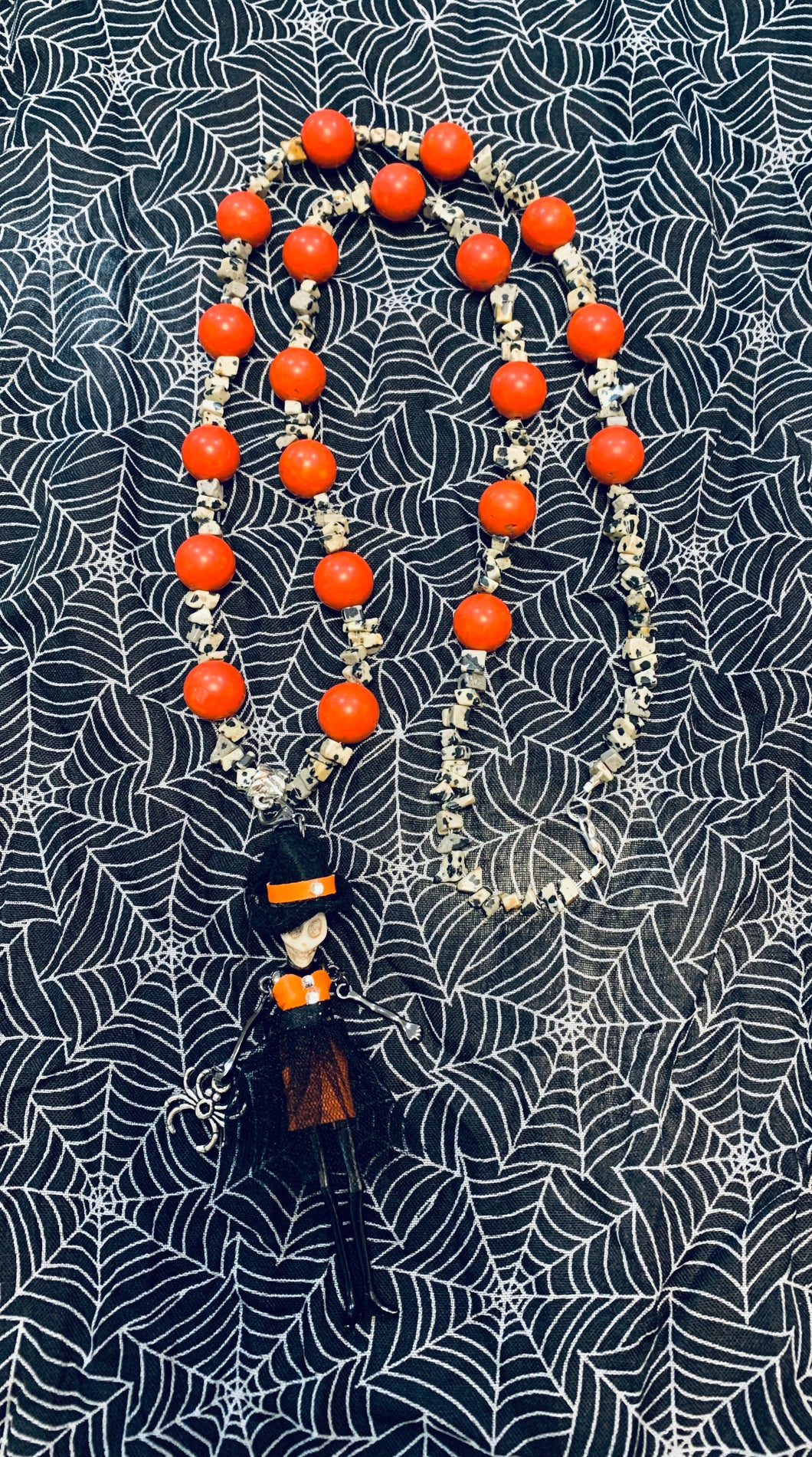 Halloween Witch Necklace with Interchangeable Charms