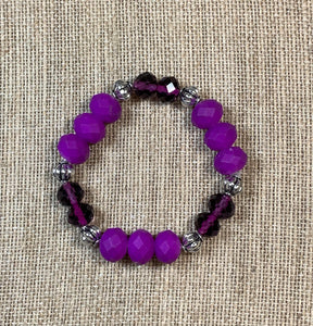 Hot Magenta & Purple Bracelet