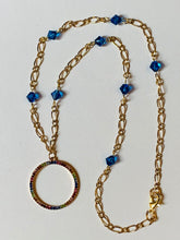 Load image into Gallery viewer, Crystal Chain Necklace with Circle Pendant