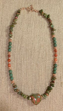 Load image into Gallery viewer, Unakite Heart Necklace