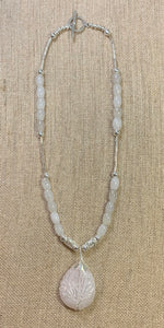 White Opalescent Tree-of-Life Necklace