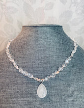 Load image into Gallery viewer, White Quartz & Sterling Silver Necklace