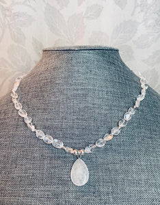 White Quartz & Sterling Silver Necklace