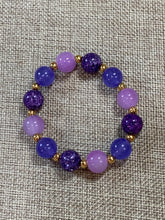 Load image into Gallery viewer, Lavender & Purple Bracelet