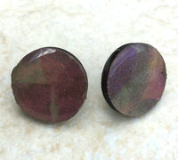 Small wood stud earrings