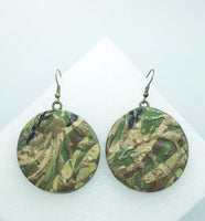 Small camouflage earrings